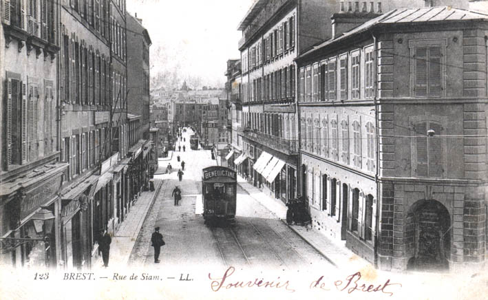brest bas de la rue de siam en 1900. Black Bedroom Furniture Sets. Home Design Ideas
